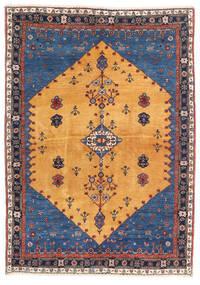 Gabbeh Kashkuli Vloerkleed 124X174 Echt Modern Handgeknoopt Lichtbruin/Donkerblauw (Wol, Perzië/Iran)