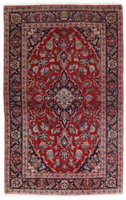 Keshan Vloerkleed 98X158 Echt Oosters Handgeknoopt Donkerrood/Donkerblauw (Wol, Perzië/Iran)