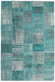 Patchwork - Persien/Iran Vloerkleed 203X301 Echt Modern Handgeknoopt Turquoise Blauw/Turquoise Blauw (Wol, Perzië/Iran)
