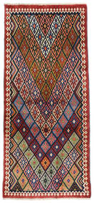Ghashghai Vloerkleed 81X178 Echt Oosters Handgeknoopt Tapijtloper Donkerrood/Donkergrijs (Wol, Perzië/Iran)