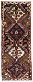 Ghashghai Vloerkleed 80X203 Echt Oosters Handgeknoopt Tapijtloper Donkerbruin/Donkerrood (Wol, Perzië/Iran)