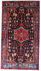Nahavand Vloerkleed 142X257 Echt Oosters Handgeknoopt Donkerrood/Zwart (Wol, Perzië/Iran)