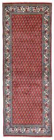 Sarough Mir Vloerkleed 74X204 Echt Oosters Handgeknoopt Tapijtloper Donkerpaars/Lichtgrijs (Wol, Perzië/Iran)
