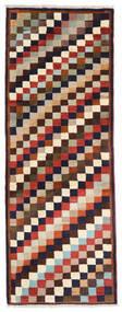 Ghashghai Vloerkleed 74X195 Echt Oosters Handgeknoopt Tapijtloper Donkerpaars/Beige (Wol, Perzië/Iran)