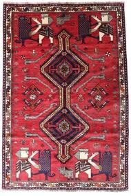 Ghashghai Vloerkleed 162X242 Echt Oosters Handgeknoopt Rood/Donkerrood (Wol, Perzië/Iran)