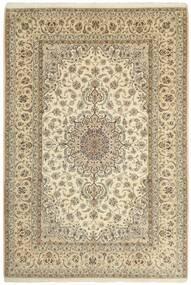 Isfahan Zijden Pool Vloerkleed 206X307 Echt Oosters Handgeknoopt Beige/Lichtgrijs (Wol/Zijde, Perzië/Iran)