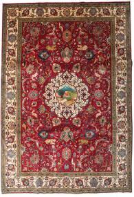 Tabriz Vloerkleed 246X355 Echt Oosters Handgeknoopt Donkerrood/Donkerbruin (Wol, Perzië/Iran)