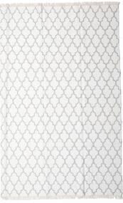 Bamboe Zijde Kelim Vloerkleed 200X300 Echt Modern Handgeweven Wit/Creme/Beige/Lichtgrijs (Wol/Bamboezijde, India)