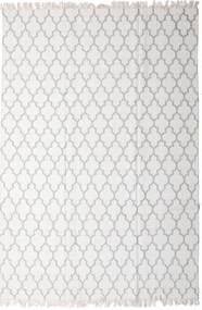 Bamboe Zijde Kelim Vloerkleed 200X300 Echt Modern Handgeweven Lichtgrijs/Wit/Creme (Wol/Bamboezijde, India)