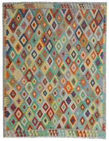 Kelim Afghan Old Style Vloerkleed 190X247 Echt Oosters Handgeweven Lichtgrijs/Donkergroen (Wol, Afghanistan)