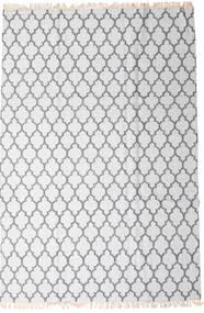 Bamboe Zijde Kelim Vloerkleed 200X300 Echt Modern Handgeweven Wit/Creme/Lichtgrijs (Wol/Bamboezijde, India)