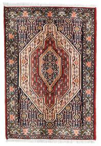Senneh Vloerkleed 68X100 Echt Oosters Handgeknoopt Donkerrood/Donkerbruin (Wol, Perzië/Iran)