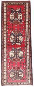 Afshar Vloerkleed 90X238 Echt Oosters Handgeknoopt Tapijtloper Donkerbruin/Donkerrood (Wol, Perzië/Iran)