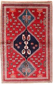 Ghashghai Vloerkleed 136X214 Echt Oosters Handgeknoopt Rood/Donkerpaars (Wol, Perzië/Iran)