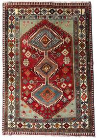 Ghashghai Vloerkleed 136X197 Echt Oosters Handgeknoopt Donkerrood/Donkergrijs (Wol, Perzië/Iran)