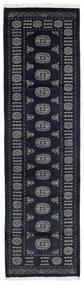 Pakistan Bokhara 2Ply Vloerkleed 82X290 Echt Oosters Handgeknoopt Tapijtloper Donkerblauw/Donkergrijs (Wol, Pakistan)
