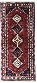 Yalameh Vloerkleed 83X190 Echt Oosters Handgeknoopt Tapijtloper Donkerrood (Wol, Perzië/Iran)