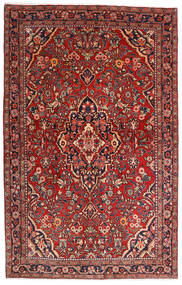 Sarough Sherkat Farsh Vloerkleed 132X208 Echt Oosters Handgeknoopt Donkerrood/Donkerbruin (Wol, Perzië/Iran)