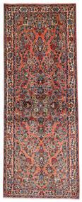 Sarough Vloerkleed 81X204 Echt Oosters Handgeknoopt Tapijtloper Donkerbruin/Lichtbruin (Wol, Perzië/Iran)