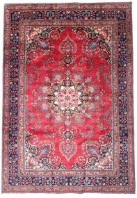 Mashad Vloerkleed 203X290 Echt Oosters Handgeknoopt Donkerpaars/Roze (Wol, Perzië/Iran)