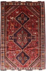 Shiraz Vloerkleed 166X246 Echt Oosters Handgeknoopt Donkerrood/Roestkleur (Wol, Perzië/Iran)