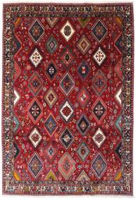 Yalameh Vloerkleed 200X292 Echt Oosters Handgeknoopt Donkerrood (Wol, Perzië/Iran)