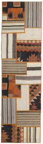 Tekkeh Kelim Vloerkleed 71X252 Echt Modern Handgeweven Tapijtloper Lichtgrijs/Bruin (Wol, Perzië/Iran)