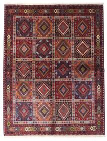 Yalameh Vloerkleed 151X195 Echt Oosters Handgeknoopt Donkerrood/Licht Paars (Wol, Perzië/Iran)