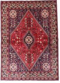 Abadeh Vloerkleed 144X203 Echt Oosters Handgeknoopt Donkerrood/Lichtroze (Wol, Perzië/Iran)
