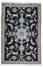 Nain Vloerkleed 89X134 Echt Oosters Handgeknoopt Zwart/Lichtgrijs (Wol, Perzië/Iran)