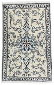Nain Vloerkleed 86X135 Echt Oosters Handgeknoopt Wit/Creme/Lichtgrijs (Wol, Perzië/Iran)