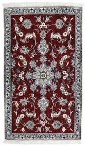 Nain Vloerkleed 84X141 Echt Oosters Handgeknoopt Donkerrood/Lichtgrijs (Wol, Perzië/Iran)
