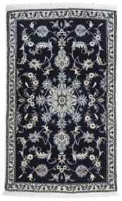 Nain Vloerkleed 86X143 Echt Oosters Handgeknoopt Zwart/Lichtgrijs (Wol, Perzië/Iran)