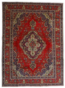 Tabriz Vloerkleed 300X408 Echt Oosters Handgeknoopt Donkerrood/Donkergrijs Groot (Wol, Perzië/Iran)