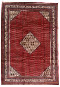 Sarough Mir Vloerkleed 214X305 Echt Oosters Handgeknoopt Donkerrood/Zwart (Wol, Perzië/Iran)