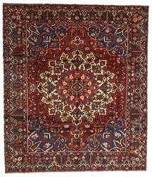 Bakhtiar Vloerkleed 310X358 Echt Oosters Handgeknoopt Donkerrood/Donkergrijs Groot (Wol, Perzië/Iran)