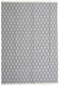 Bamboe Zijde Kelim Vloerkleed 250X350 Echt Modern Handgeweven Lichtgrijs/Donkergrijs Groot (Wol/Bamboezijde, India)