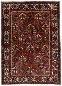 Bakhtiar Vloerkleed 153X212 Echt Oosters Handgeknoopt Donkerbruin/Donkerrood (Wol, Perzië/Iran)