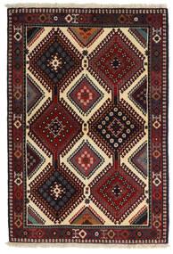 Yalameh Vloerkleed 104X152 Echt Oosters Handgeknoopt Donkerrood/Donkergrijs (Wol, Perzië/Iran)