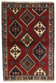 Yalameh Vloerkleed 105X156 Echt Oosters Handgeknoopt Donkerrood/Donkergrijs (Wol, Perzië/Iran)