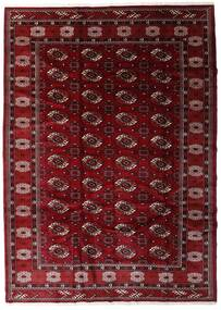 Turkaman Vloerkleed 204X285 Echt Oosters Handgeknoopt Donkerrood/Donkerbruin (Wol, Perzië/Iran)