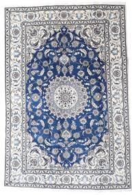 Nain Vloerkleed 195X290 Echt Oosters Handgeknoopt Lichtgrijs/Wit/Creme (Wol, Perzië/Iran)