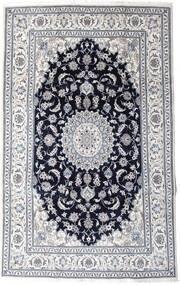 Nain Vloerkleed 197X313 Echt Oosters Handgeknoopt Lichtgrijs/Zwart (Wol, Perzië/Iran)