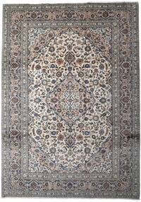 Keshan Vloerkleed 252X350 Echt Oosters Handgeknoopt Lichtgrijs/Donkergrijs Groot (Wol, Perzië/Iran)