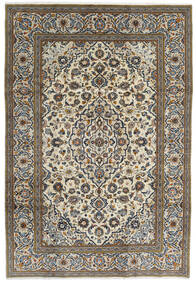 Keshan Vloerkleed 195X288 Echt Oosters Handgeknoopt Donkergrijs/Lichtgrijs (Wol, Perzië/Iran)