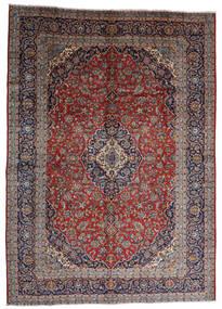 Keshan Vloerkleed 287X403 Echt Oosters Handgeknoopt Donkerrood/Donkerbruin Groot (Wol, Perzië/Iran)