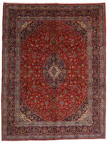 Keshan Vloerkleed 290X381 Echt Oosters Handgeknoopt Donkerrood Groot (Wol, Perzië/Iran)