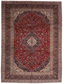 Keshan Vloerkleed 294X400 Echt Oosters Handgeknoopt Donkerrood Groot (Wol, Perzië/Iran)