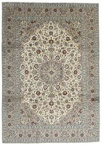 Keshan Vloerkleed 251X357 Echt Oosters Handgeknoopt Donkergrijs/Lichtgrijs Groot (Wol, Perzië/Iran)