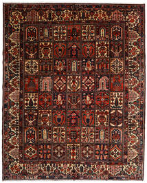 Bakhtiar Vloerkleed 317X392 Echt Oosters Handgeknoopt Donkerbruin/Donkerrood Groot (Wol, Perzië/Iran)